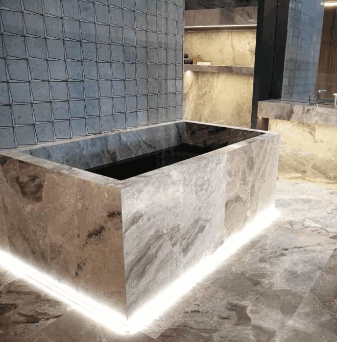 Płytki kamienne do łazienki